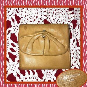 Yves Saint Laurent Tan Tri Fold Wallet USED